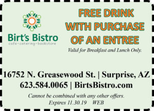 Birt's Bistro Free Drink Coupon